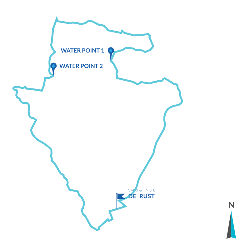 19.5km Trail Run Route