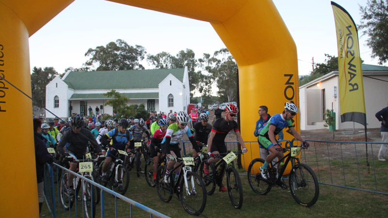 Mountain Bike Challenge Start and Finish