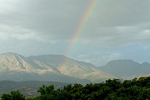 Rainbow in front of Swartberge